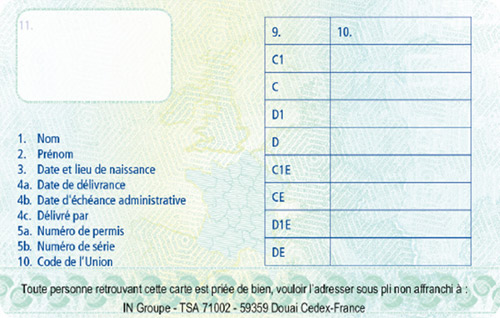 Chronoservices Carte De Qualification De Conducteur Carte